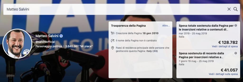 QUANTO SPENDE Matteo Salvini SUI SOCIAL